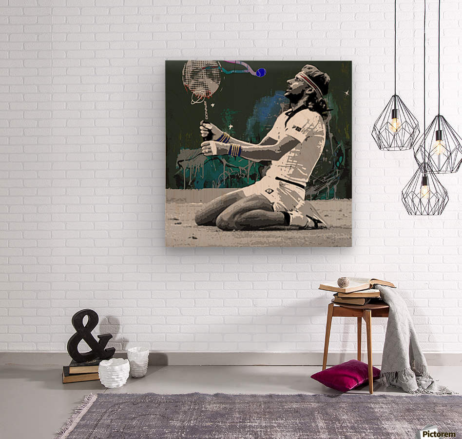 Björn Borg  Wood print