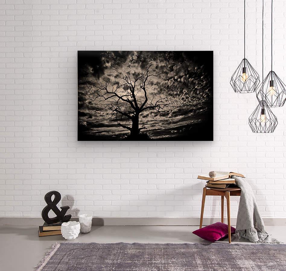 Spooky tree  Impression sur bois