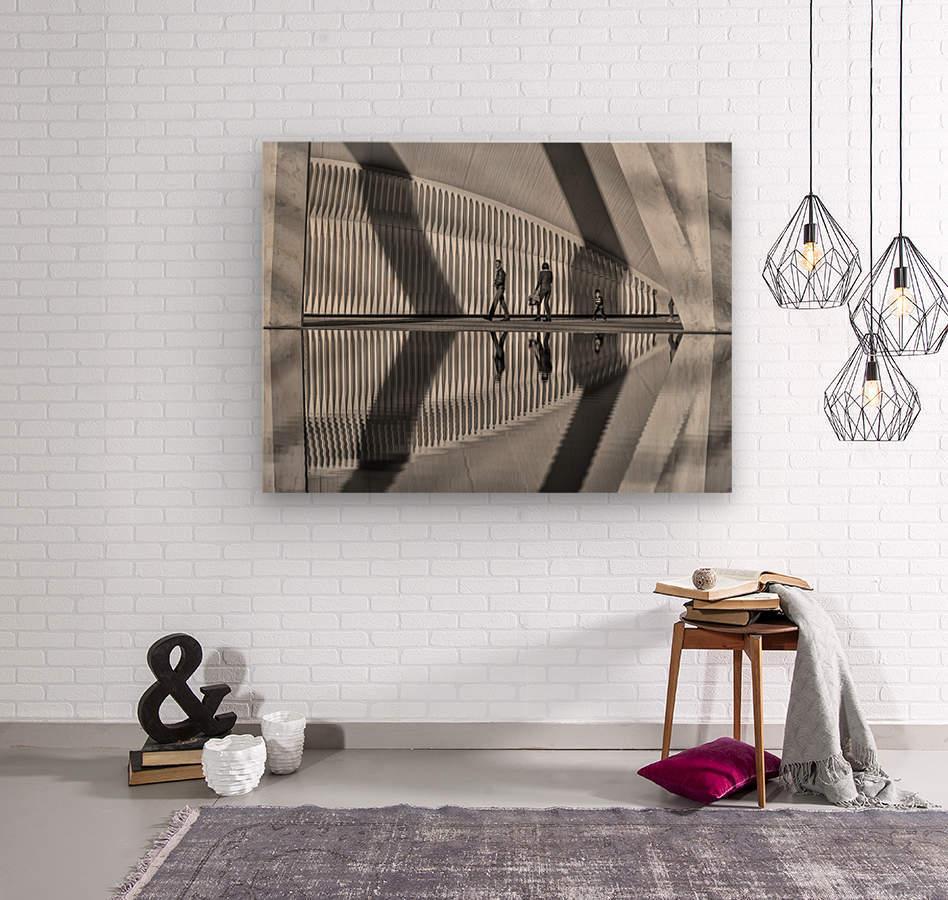 Valencia shadows  Wood print