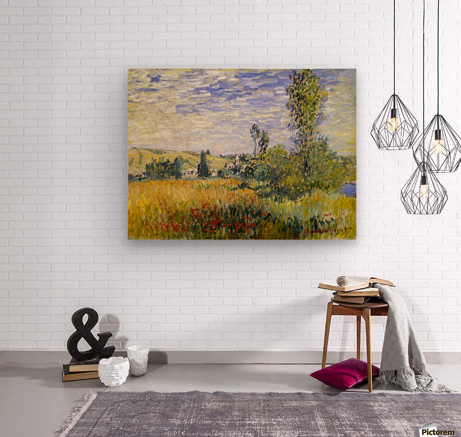 Vetheuil by Monet  Wood print