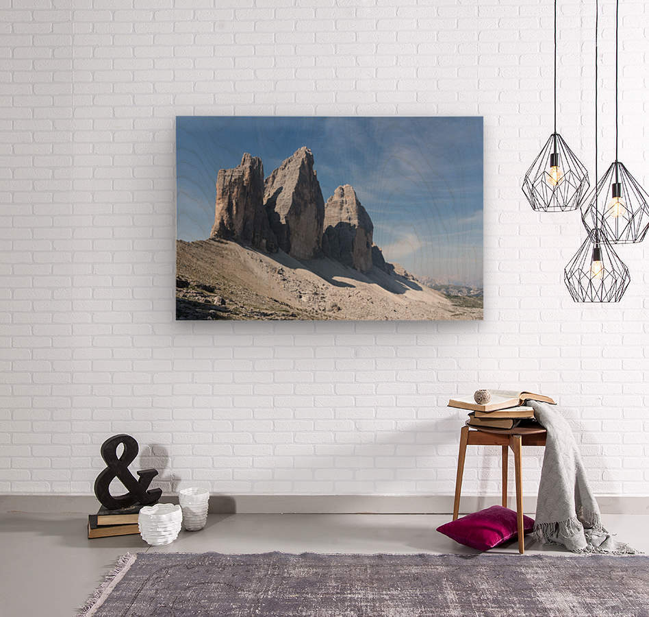 Three peaks of Lavaredo  Wood print