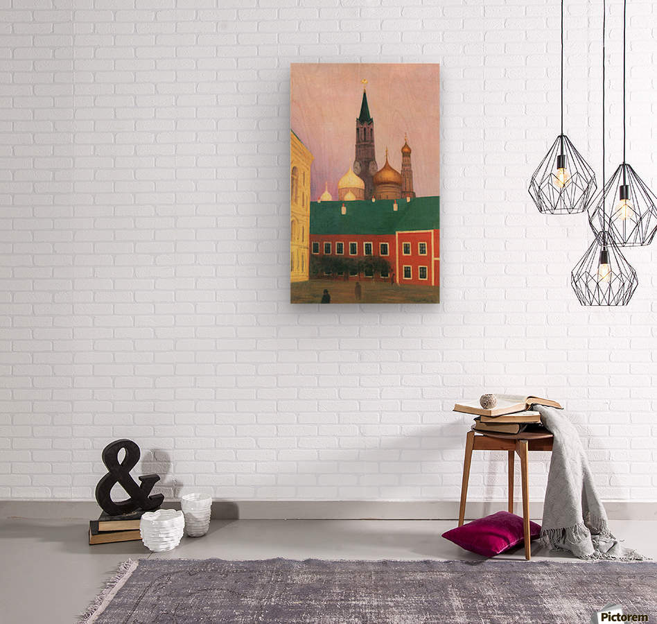 View of the Kremlin in Moscow by Felix Vallotton  Wood print