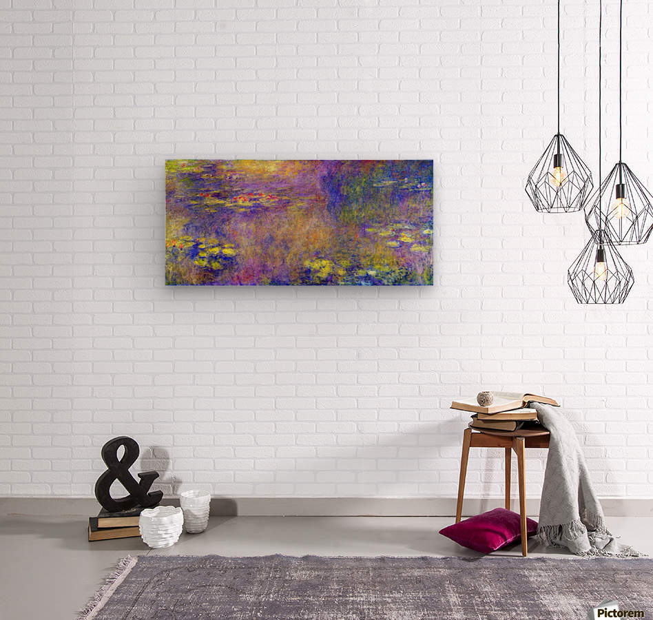 Water Lilies - (Yellow nirvana) by Monet  Wood print