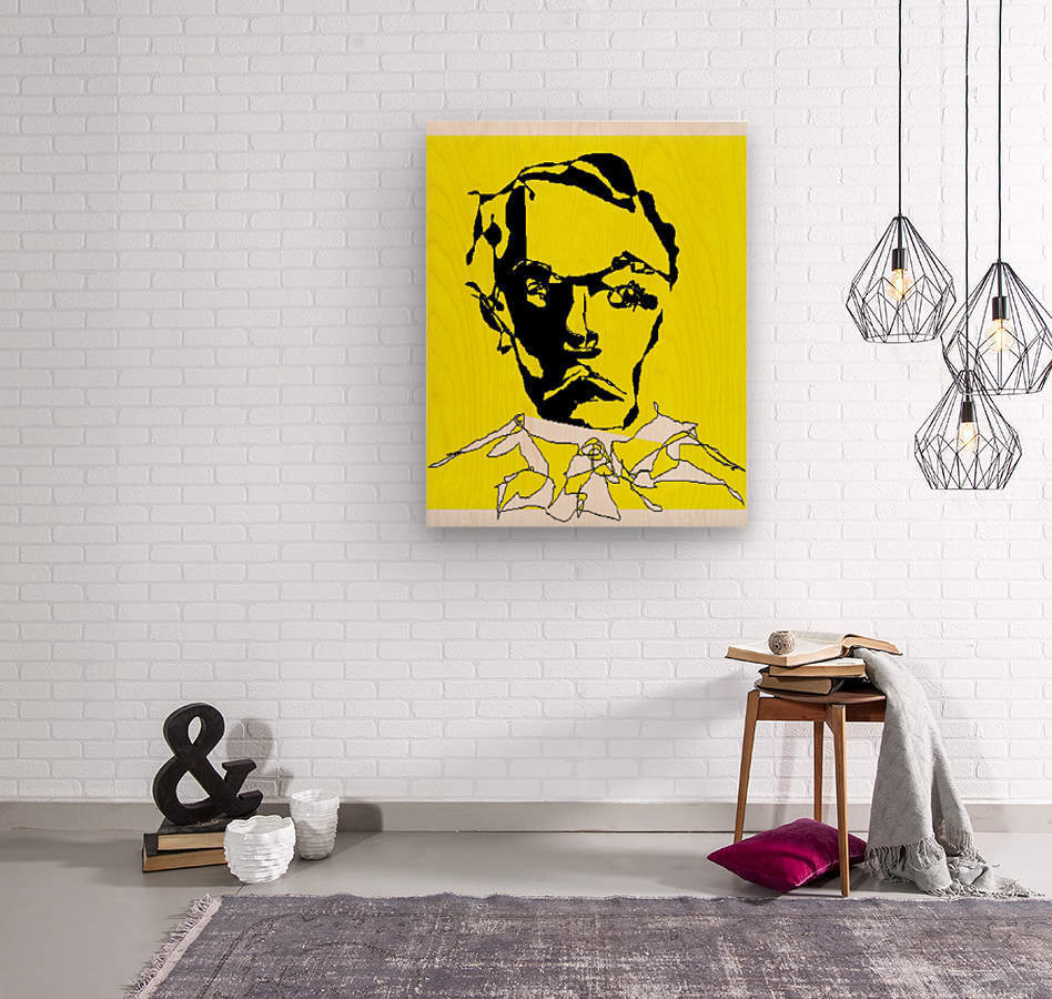 Art 16 A portrait of Mockingbird (Serious man) - Dragan Mrkalj Canvas