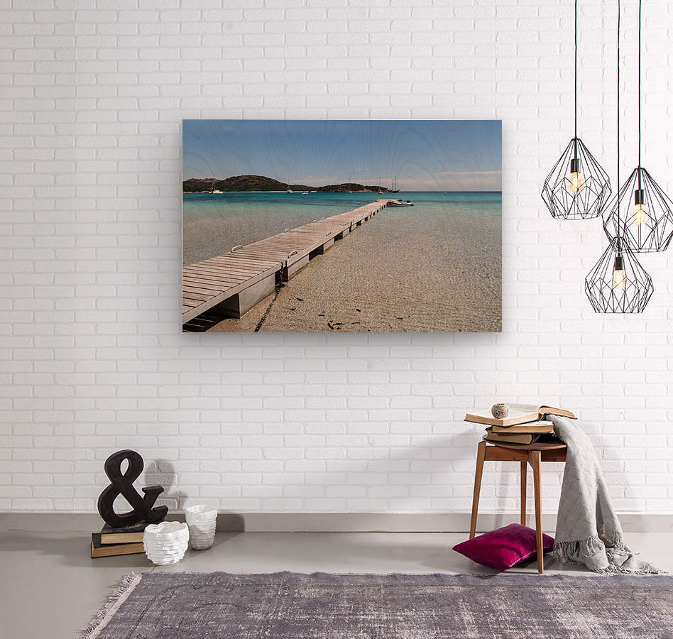 Rondinara beach in Corse  Wood print