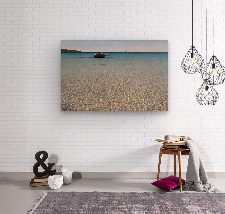 Pinarellu beach in Corse  Wood print