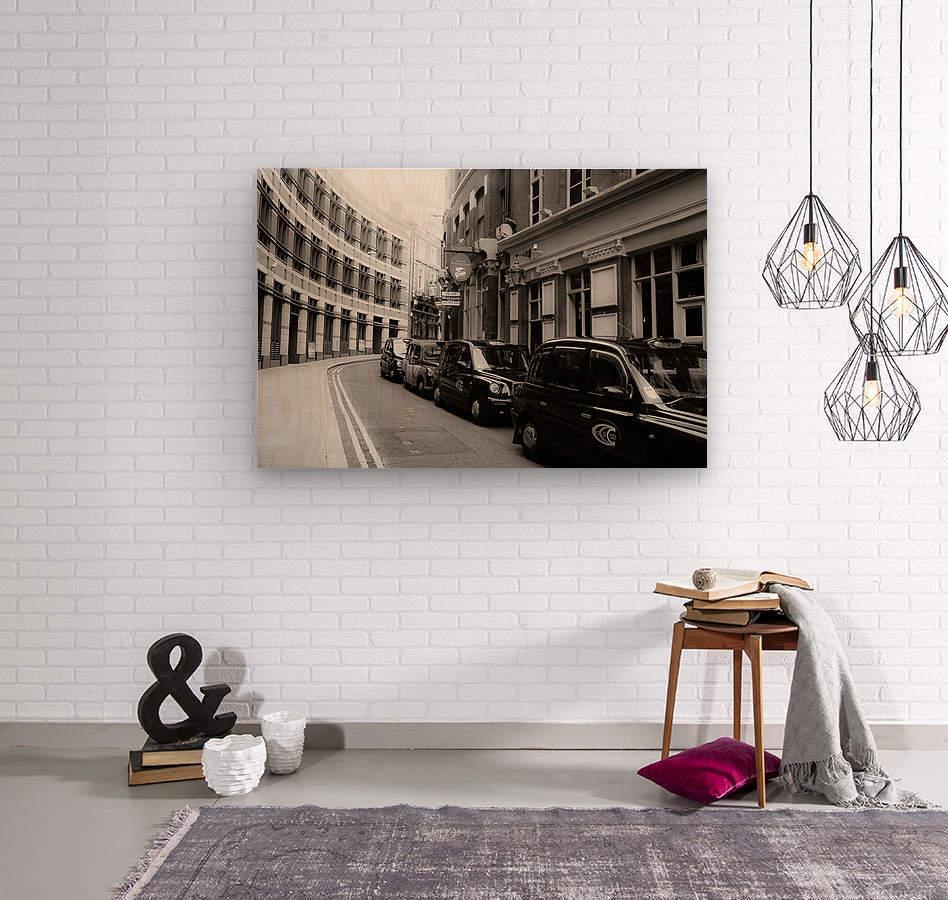 Cabs  Wood print