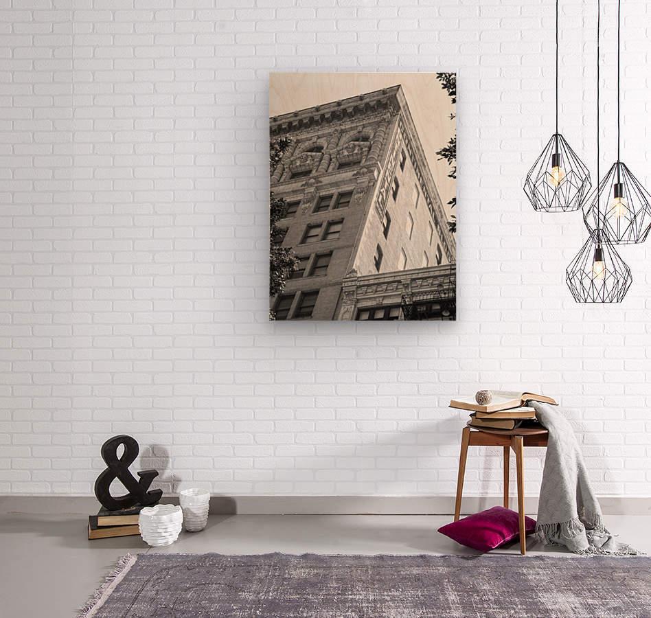 Continental Building DTLA - B&W  Wood print