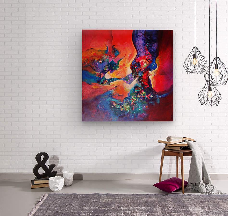 harmony II,size 33 inches x33 inches, medium acrylic on canvas  Wood print