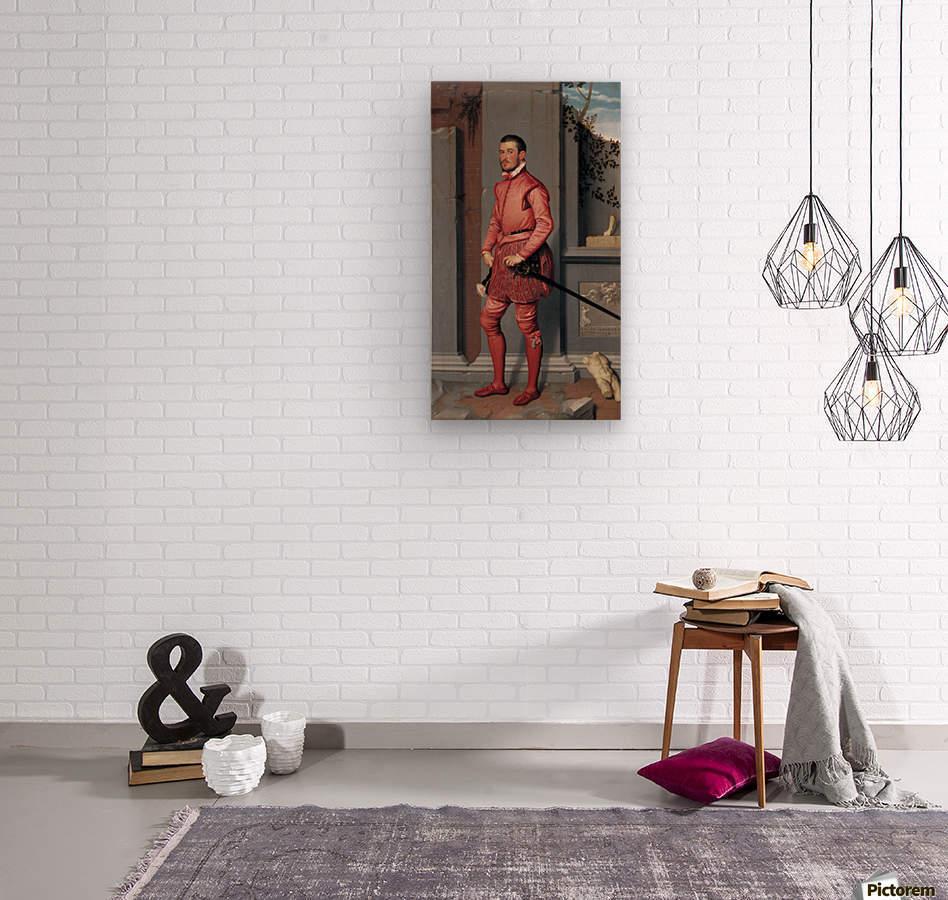 The Gentleman in Pink  Wood print