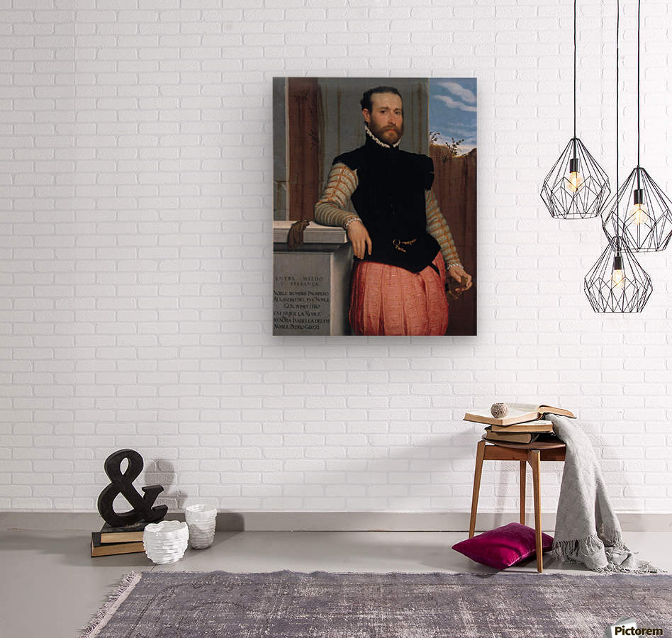 Portrait of Prospero Alessandri  Wood print