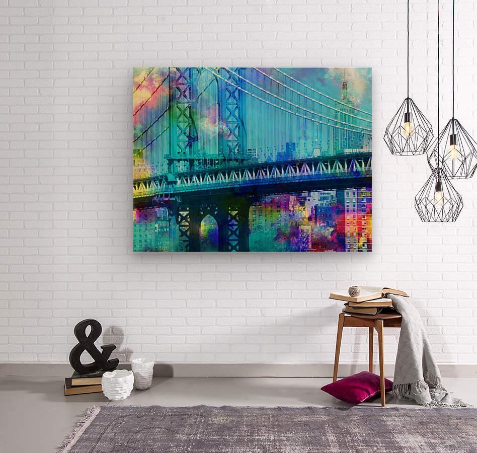 Manhattan Bridge  Wood print