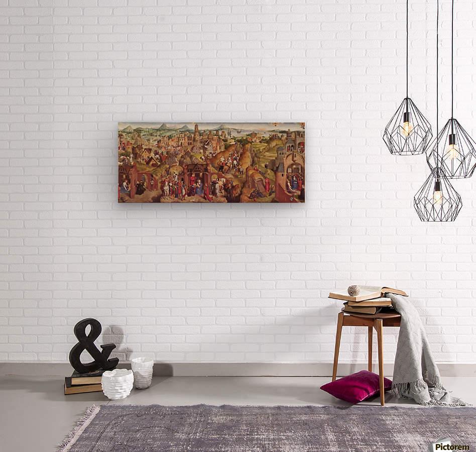 Die sieben Freuden Mariens  Wood print