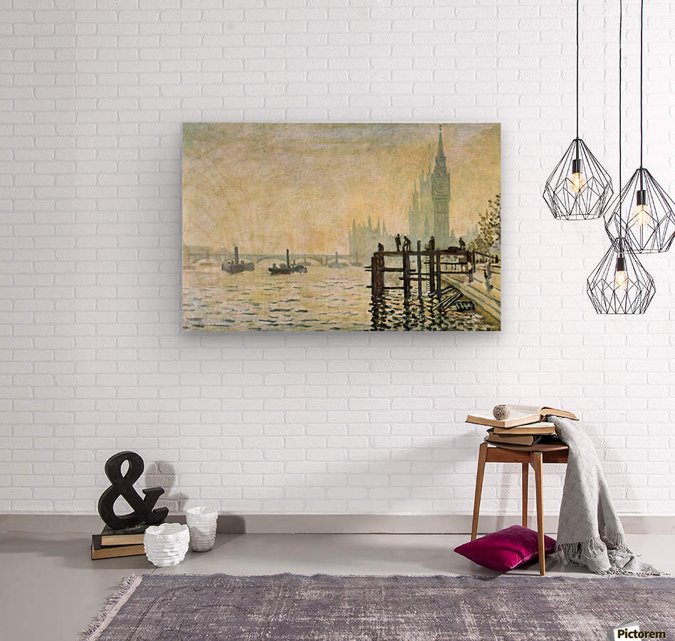 Westminster Bridge in London by Monet  Wood print