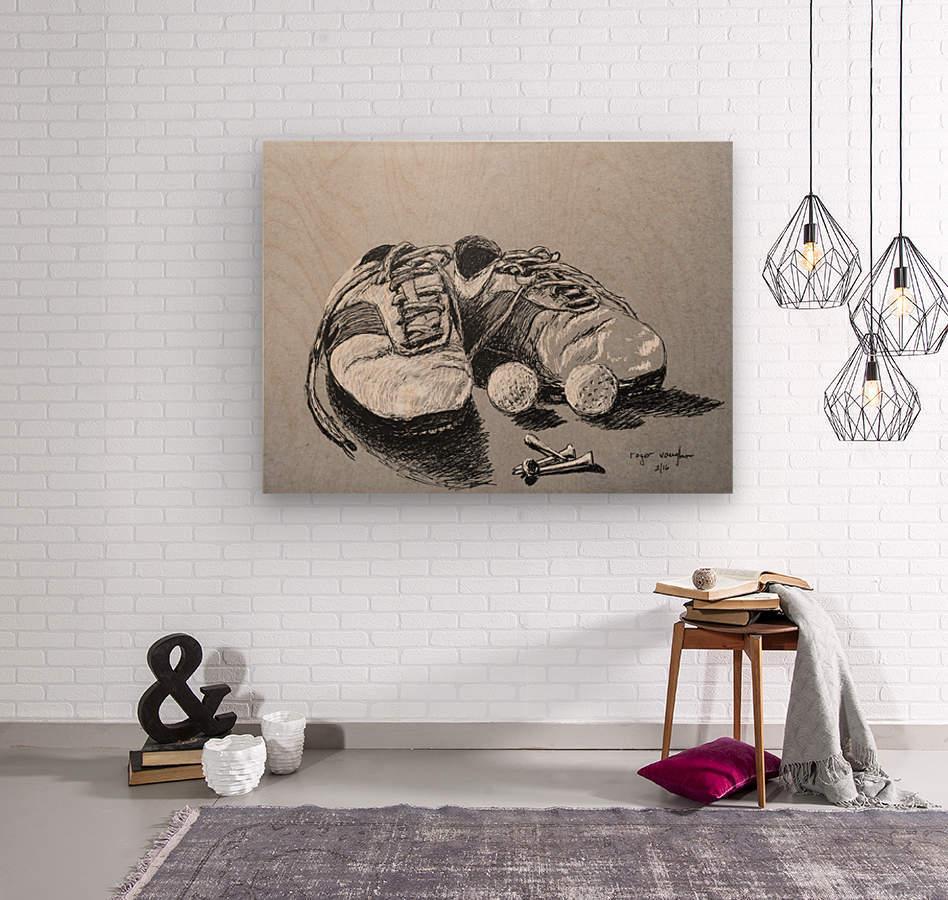Tired  Nikes  Wood print
