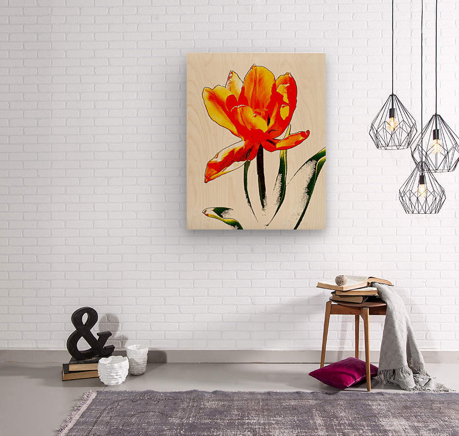 Poppy 3  Wood print