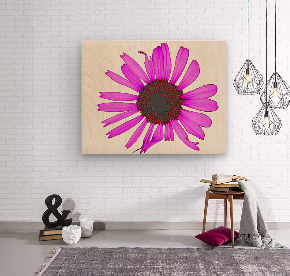 Daisy 3  Wood print