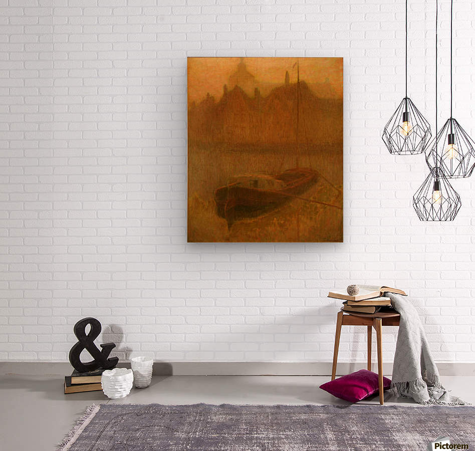 Barque sur le Canal  Wood print
