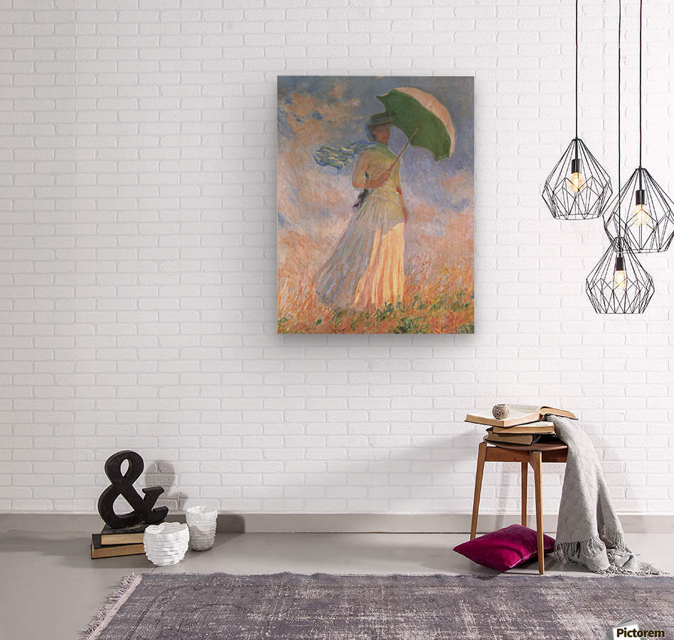 Woman with Parasol  Wood print