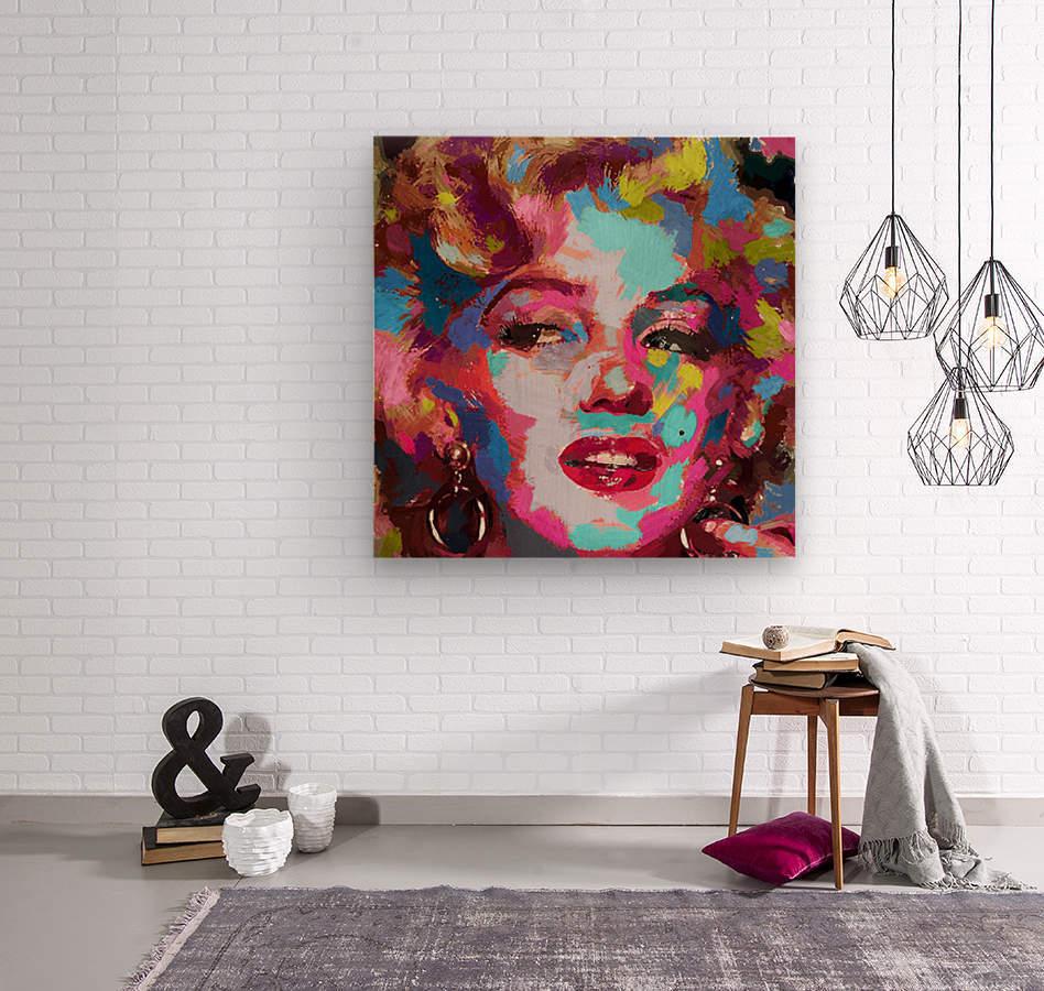 MarilynMonroe  Wood print