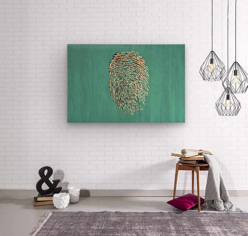 Golden Print  Wood print