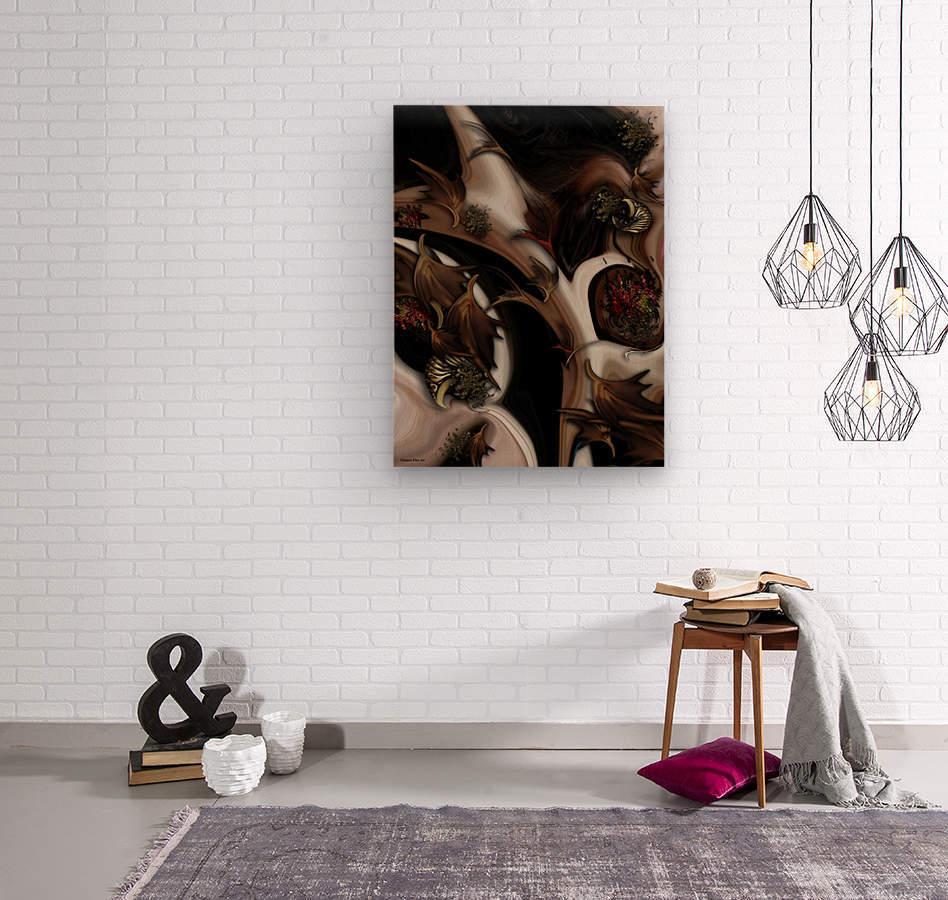 Juxtaposed Nature   Wood print