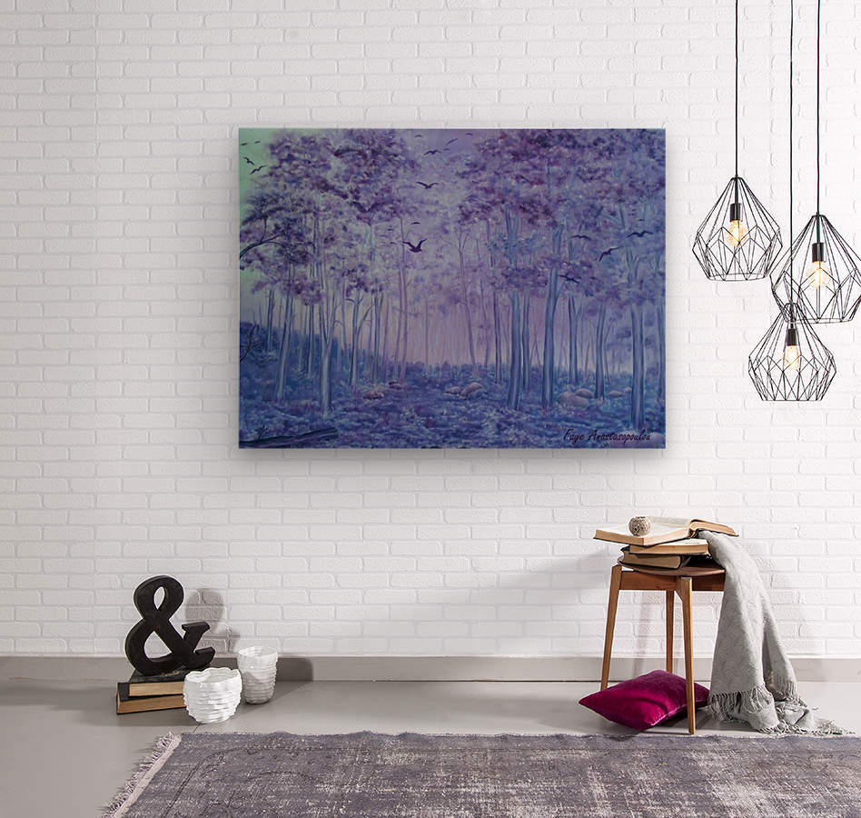 Lavender Woods  Wood print
