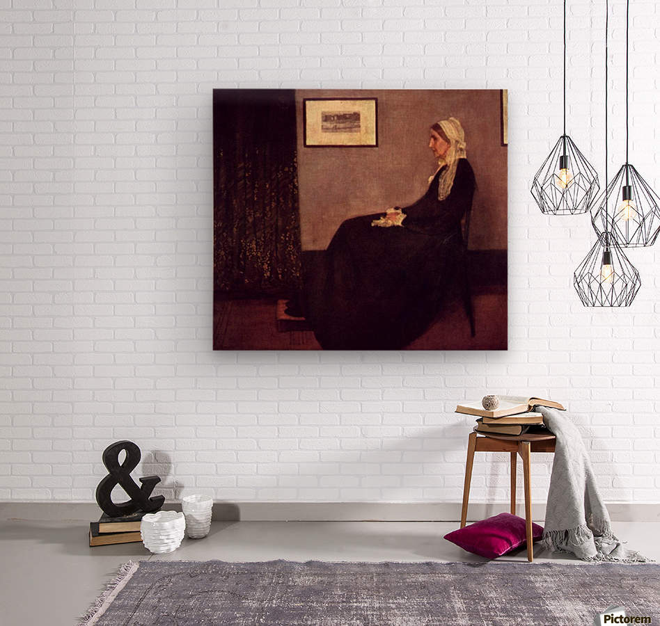 Arrangement in Black and Gray by Whistler  Wood print
