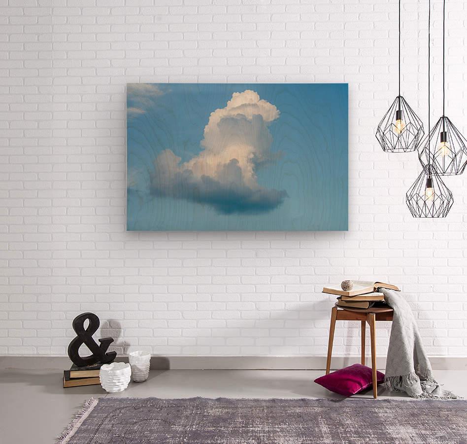 Cloud and blue sky  Wood print
