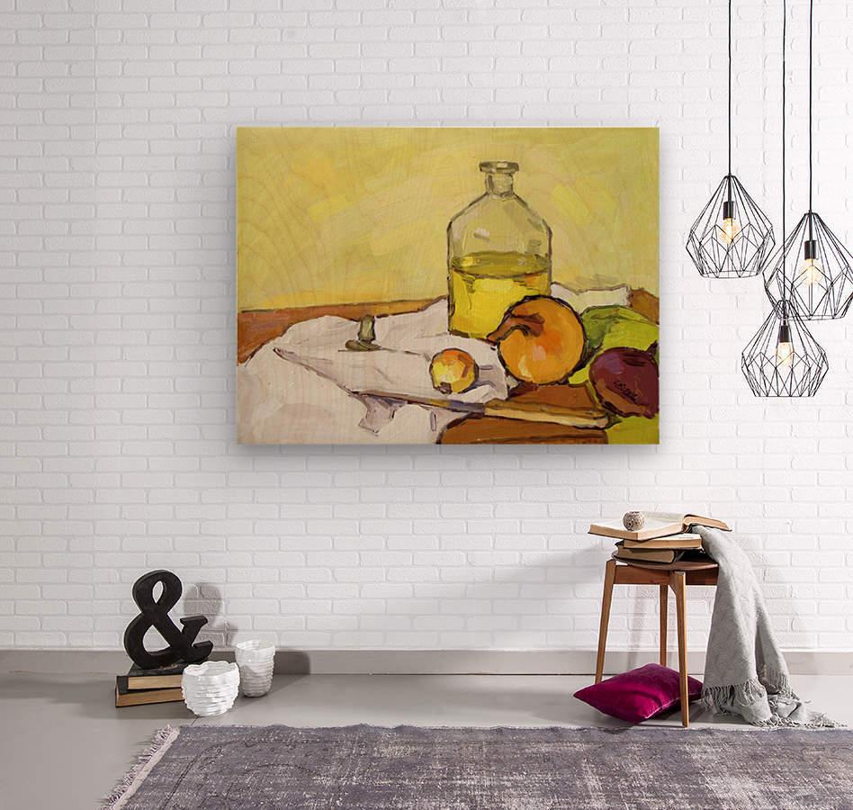 Still Life with Onion-2  Wood print