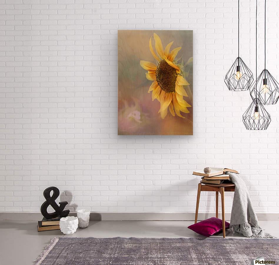 Be The Sunflower - Sunflower Art by Jordan Blackstone  Wood print