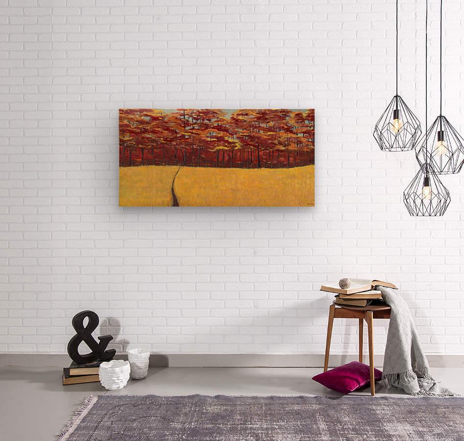 Dreams of Autumn  Wood print