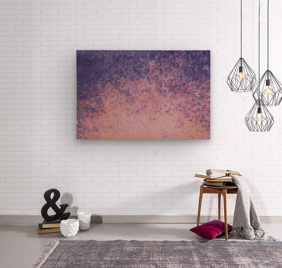 Dream violet  Wood print