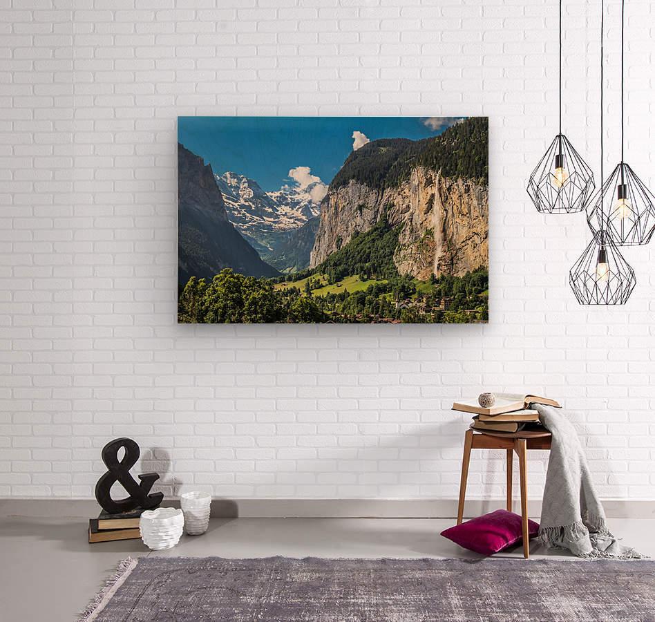 Valley of Waterfalls  Wood print