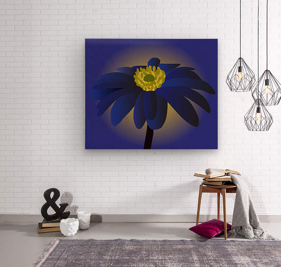Anemone Blanda Flower Art  Wood print