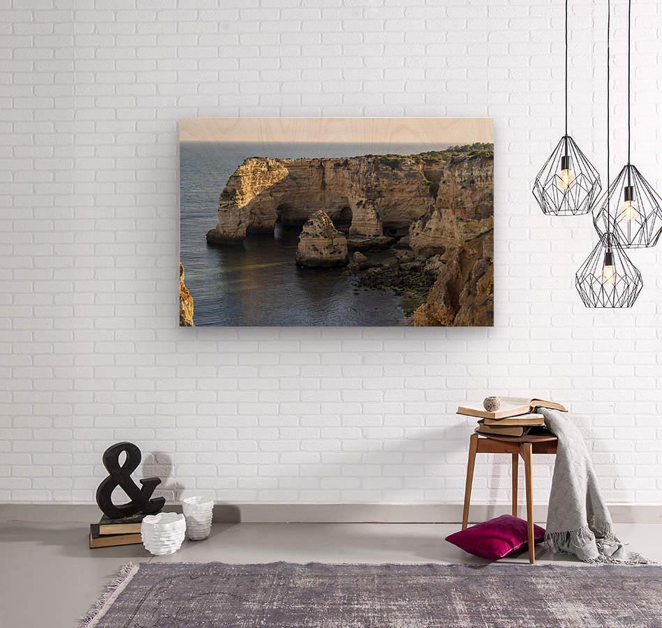 Praia de Marinha  Wood print