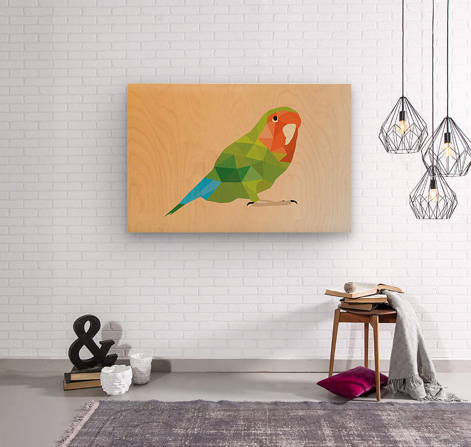 Parrot LOW POLY ART   Wood print