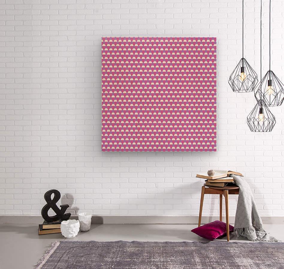 Pink Pattern Artwork  Wood print