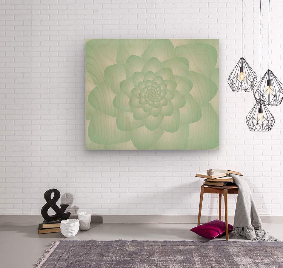 Pastel Green Art  Wood print