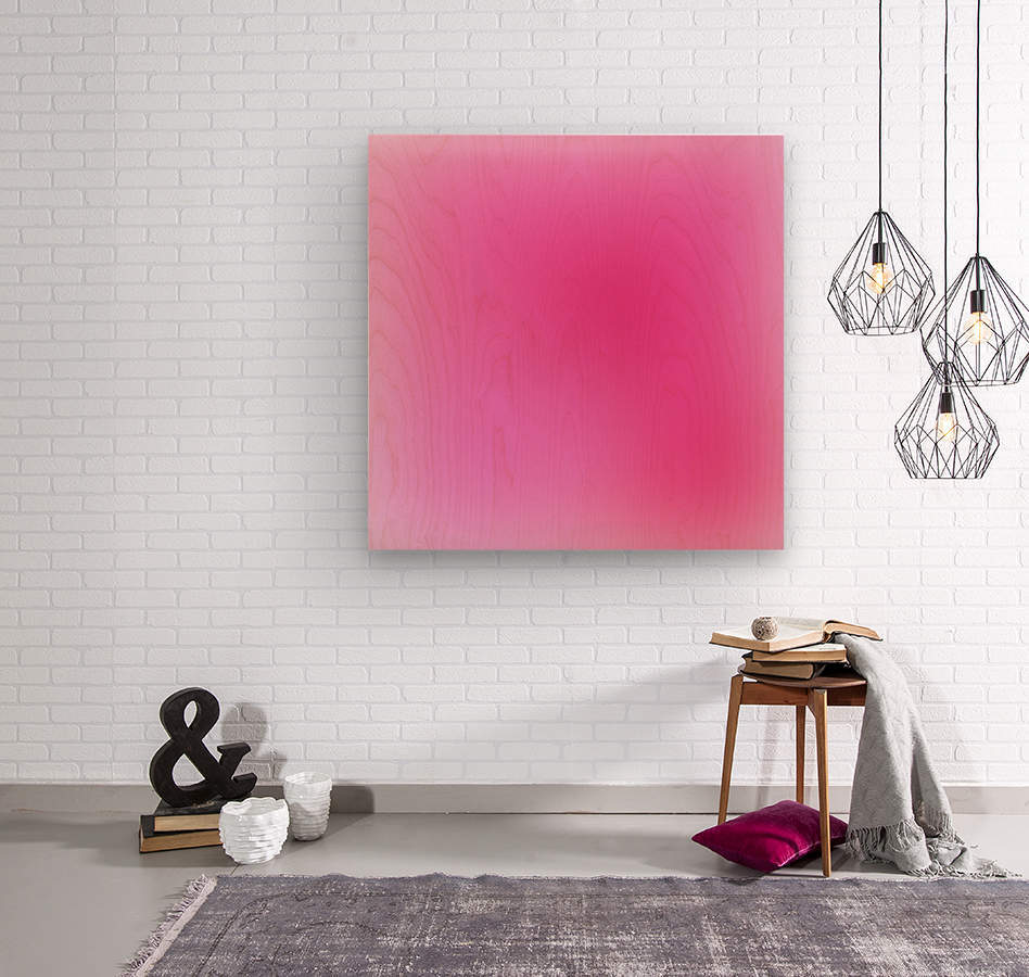 Rose Gradient Background  Wood print