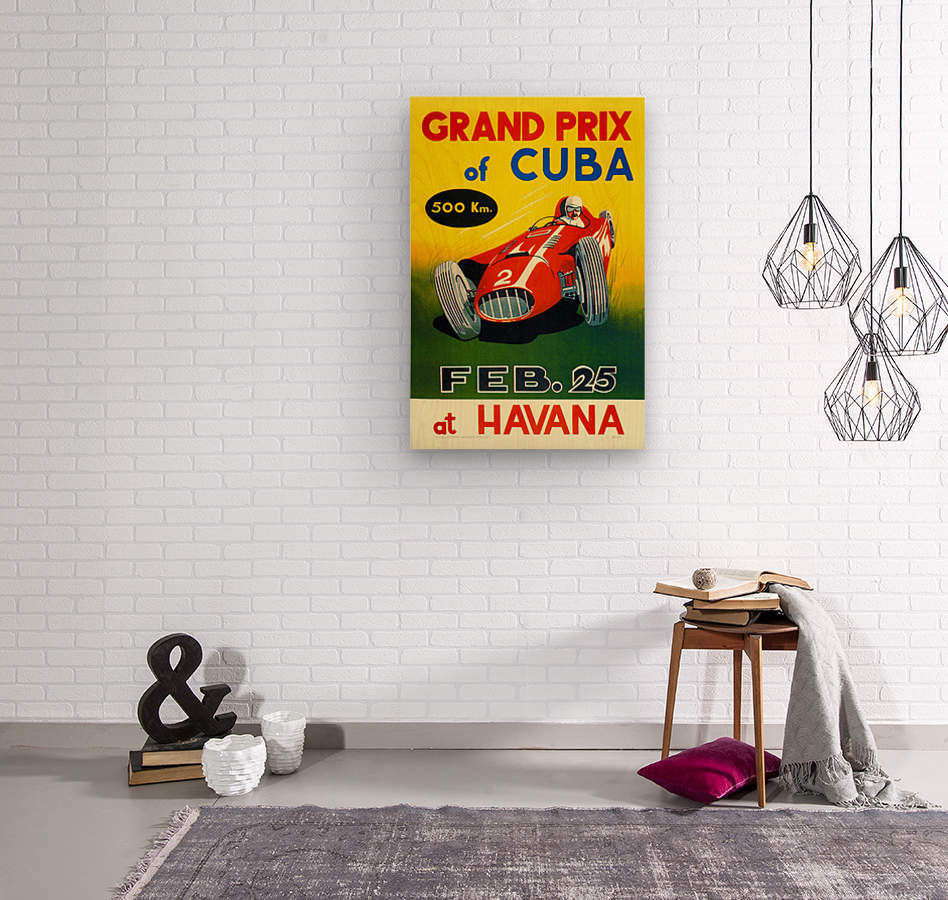 Cuba Grand Prix Havana 1958  Wood print