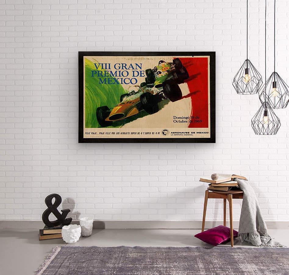 Mexico Grand Prix VII Gran Premio De Mexico 1969  Wood print