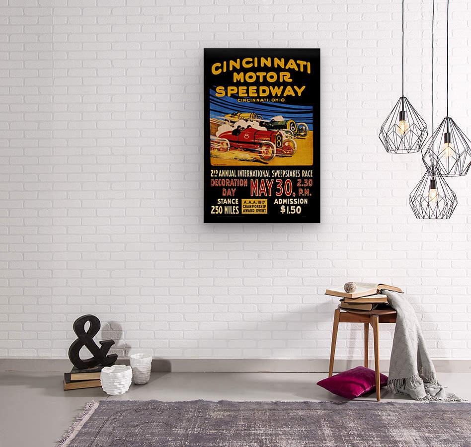 CincIInnati Motor Speedway 2nd Annual International Sweepstakes Race 1917  Wood print
