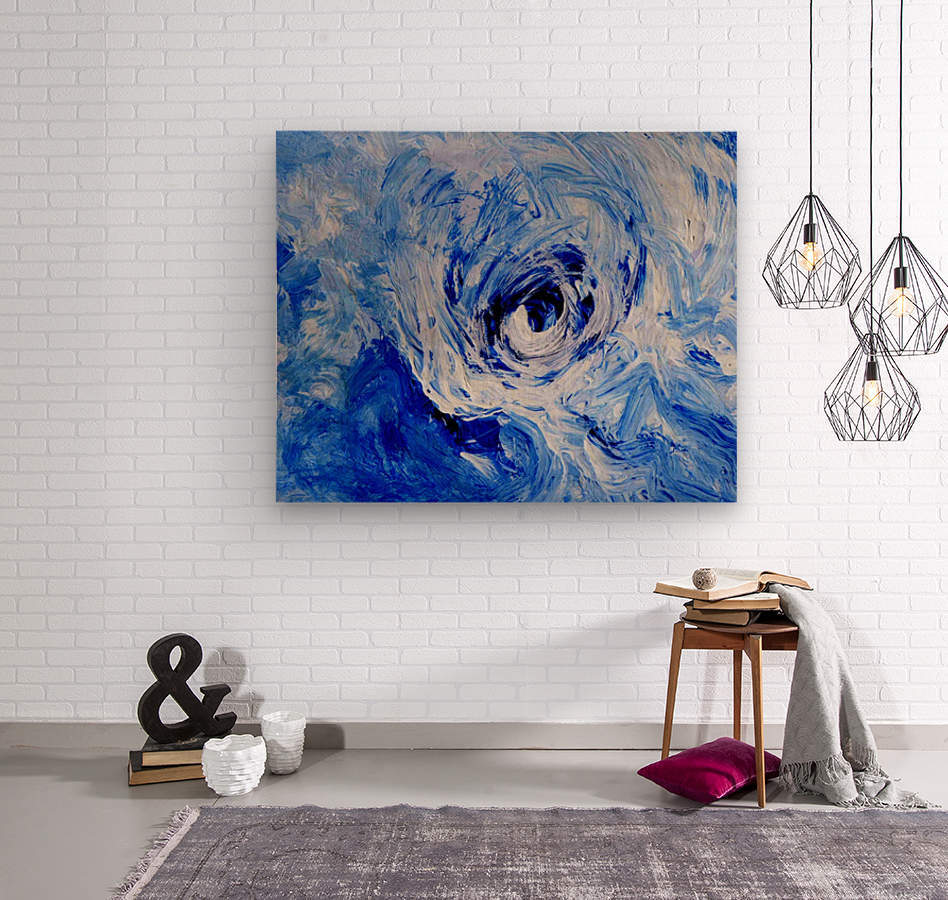 Abstract Storm  Wood print