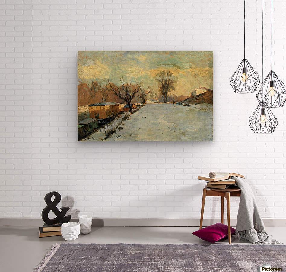 The Seine in Winter  Wood print