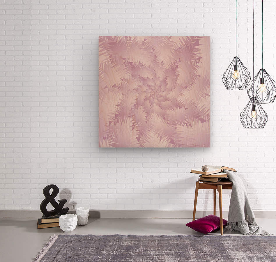 Pink Snowflakes Forest  Wood print
