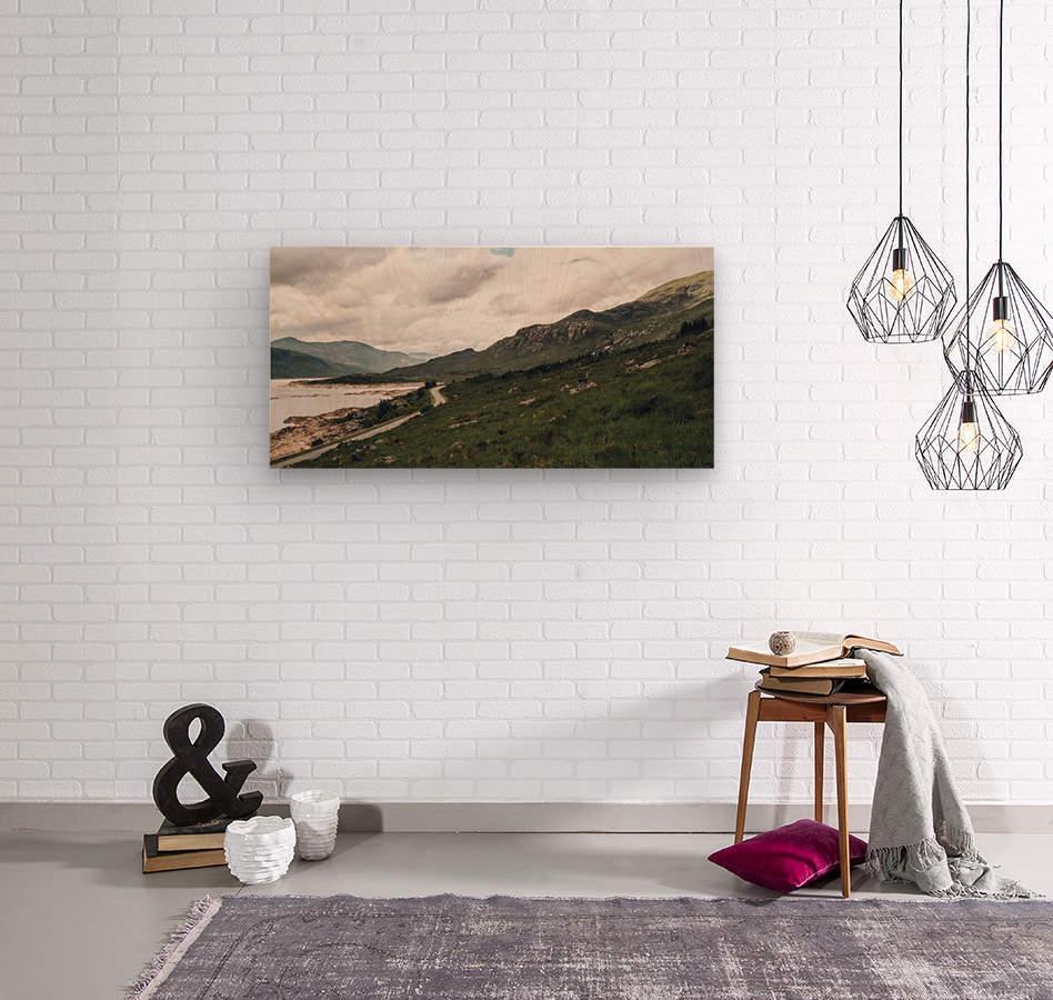 Rive de Loch Cluanie  Impression sur bois