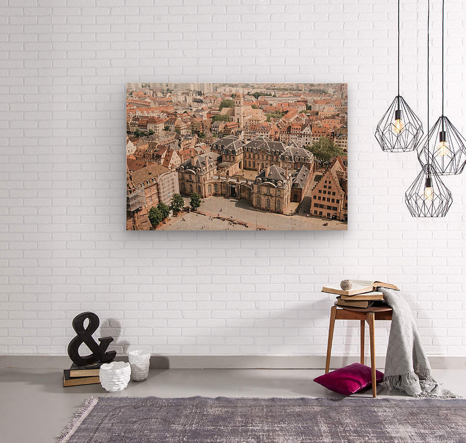 Palais Rohan Strasbourg  Impression sur bois