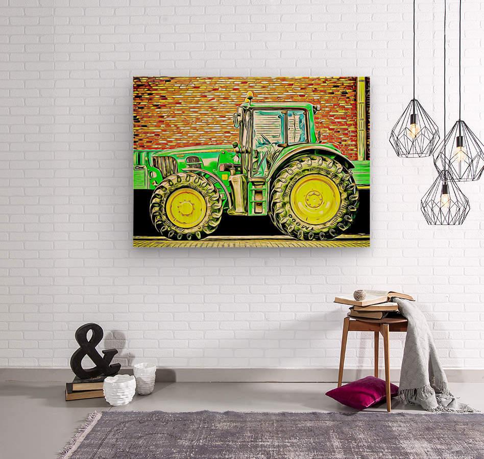 farming equipment  Wood print