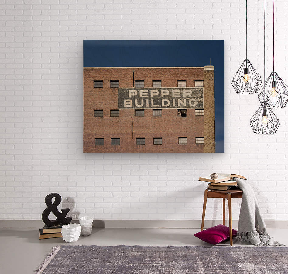 Pepper Building 2  Wood print
